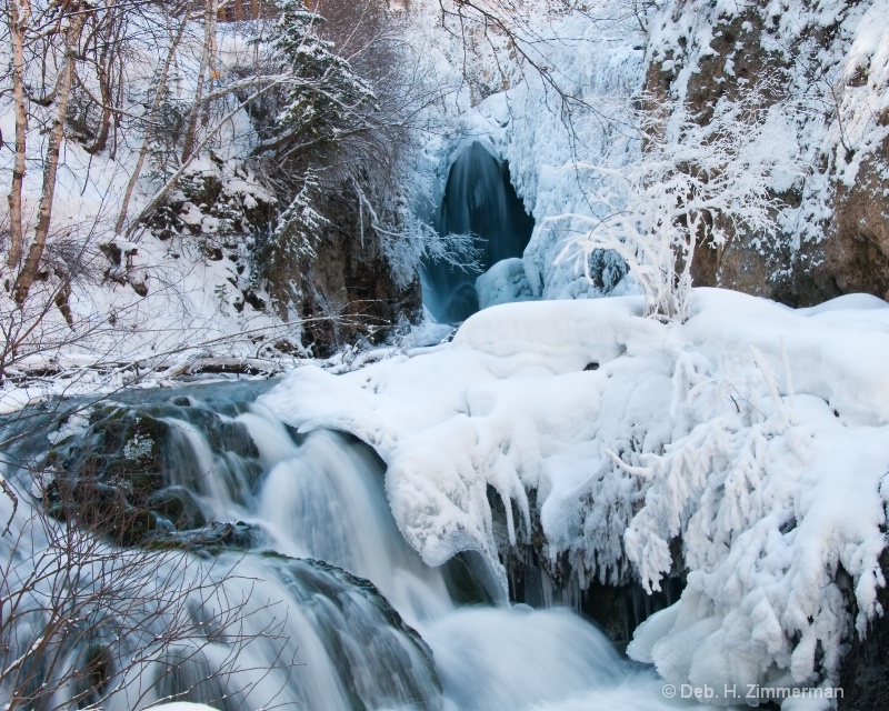 Roughlock Falls in Icy Splendour