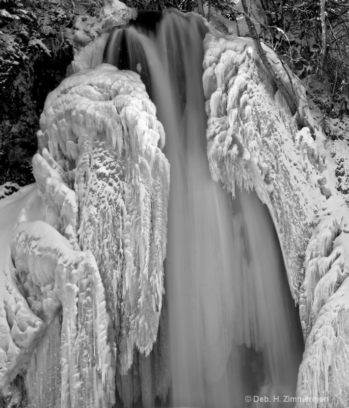 Study of Icy Waterfall