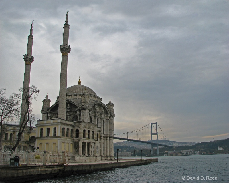 Mosque on the Strait of Istanbul