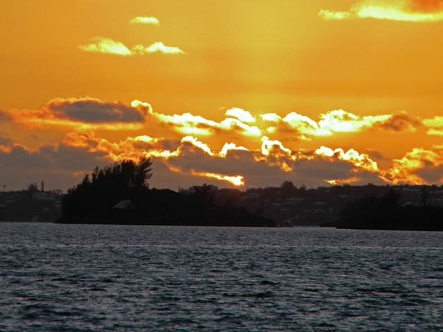 sunset in harbor 2