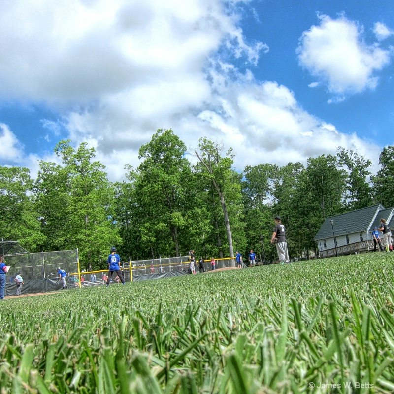 Blue Sky, Green Grass and Softball