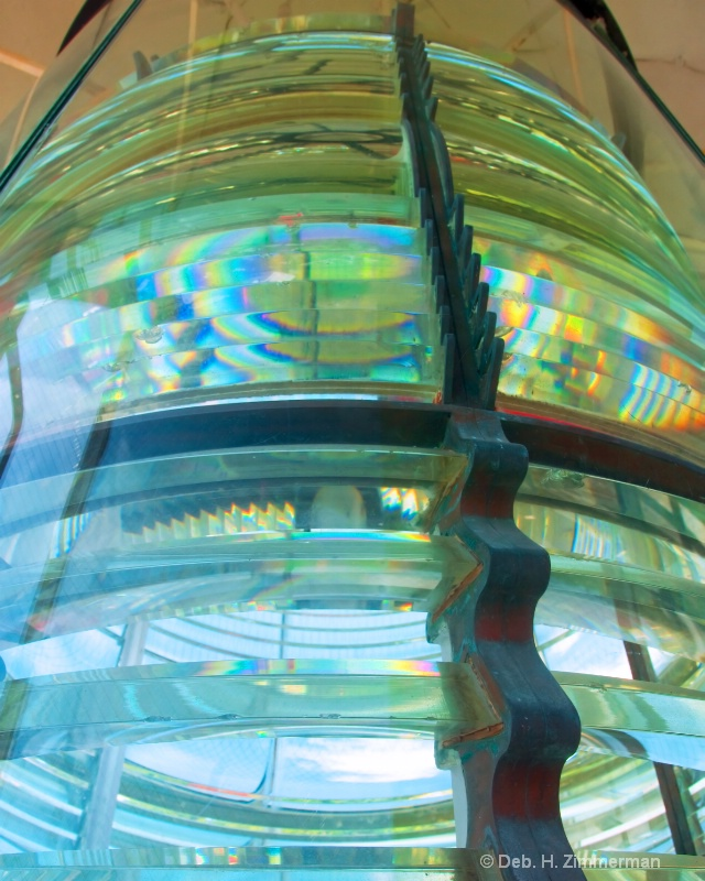 Rainbows in Key West Lighthouse Lens