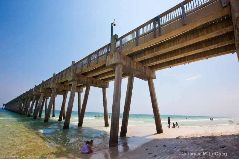 Pensacola Beach Fishing Pier Wide