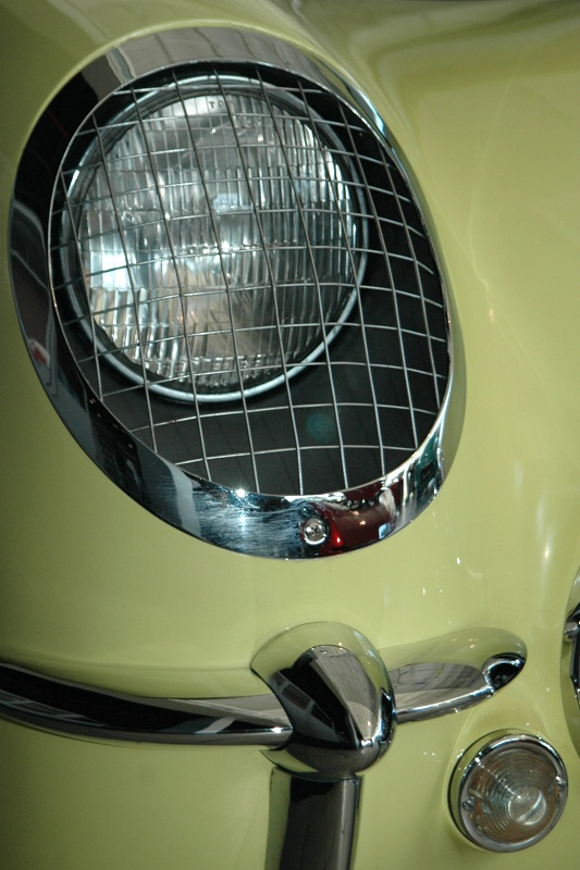 Early Corvette Headlight
