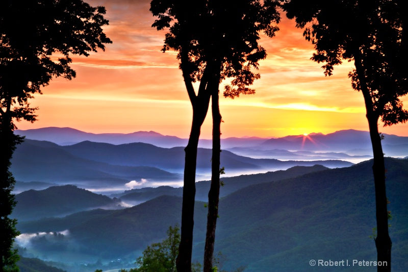 sunrise over Blue Ridge Mtns,  '11