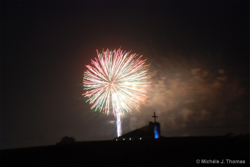 Fireworks Over The Church !