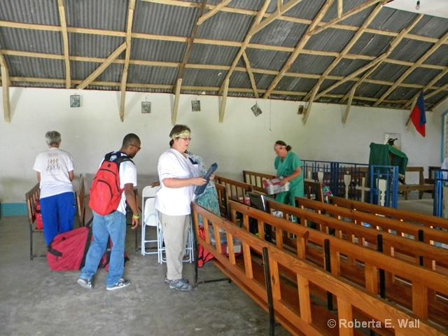 setting up clinic petionville catholic church