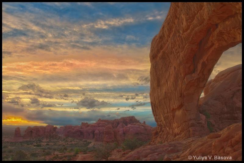 North Window Sunset