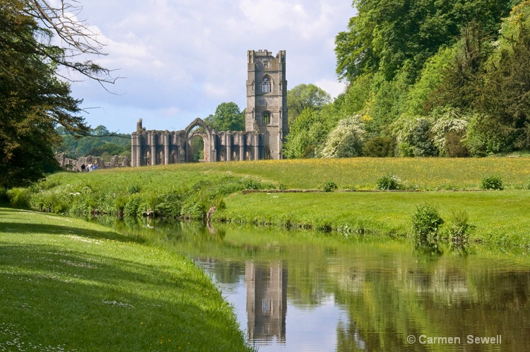 Fountains Abbey reflection