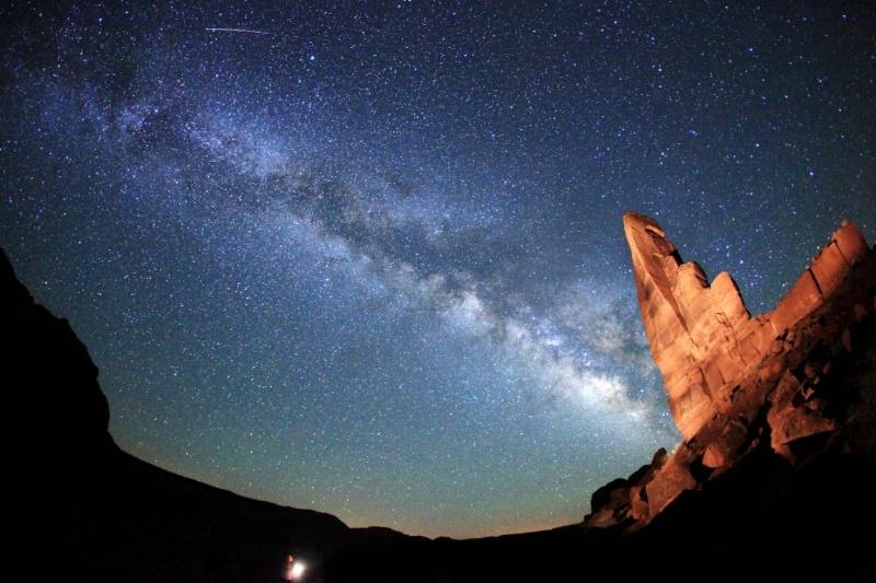 Nikolas Lights Up the Milky Way