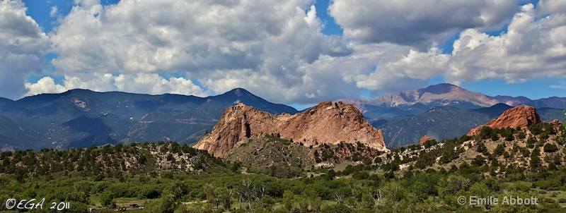 Pikes Peak, Garden of the Gods, and Rockies