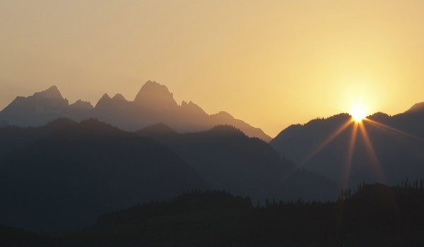 Olympic Mtn Sunset