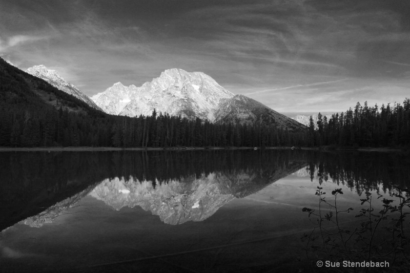 Tetons Reflected in Black and White, WY