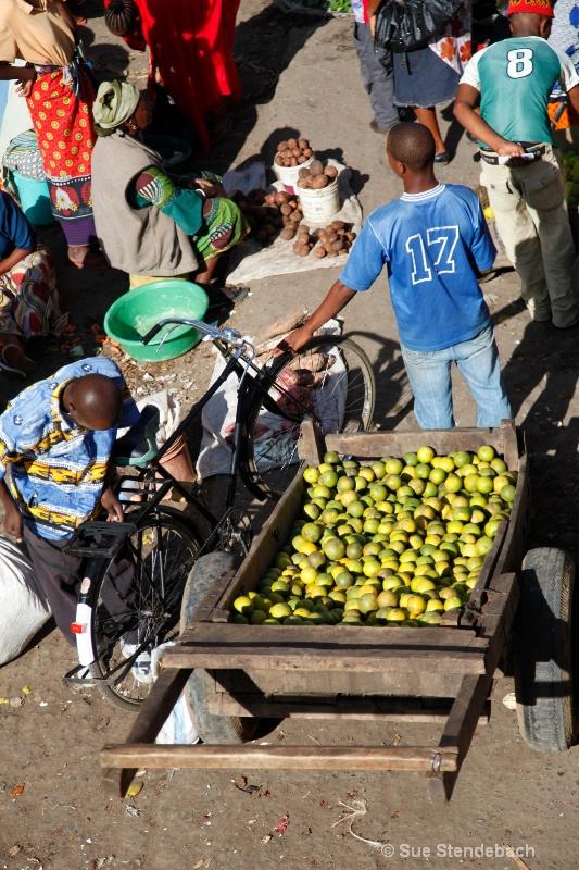 Bike and Fruit Cart, Arusha Market, Tanzania
