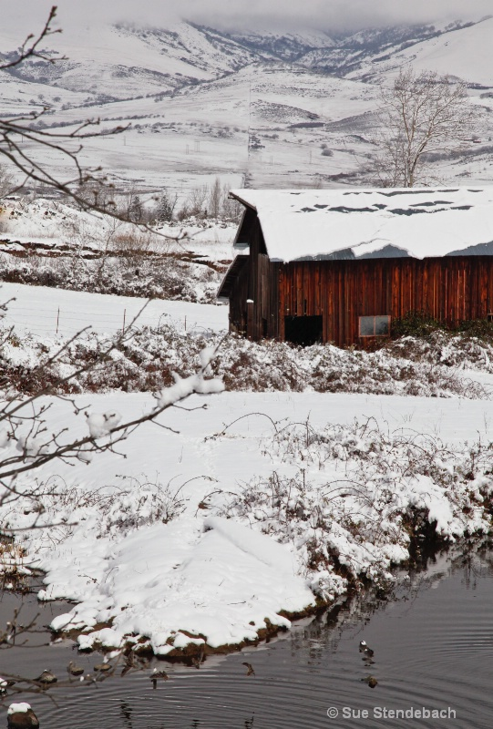 Barn in Winter, Ashland, OR