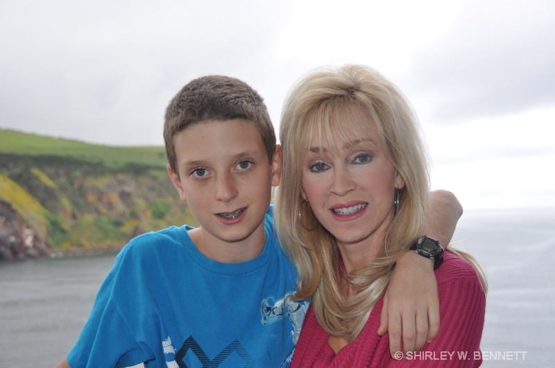 HARRISON BROER AND HIS MOM, SHARON...MY DAUGHTER