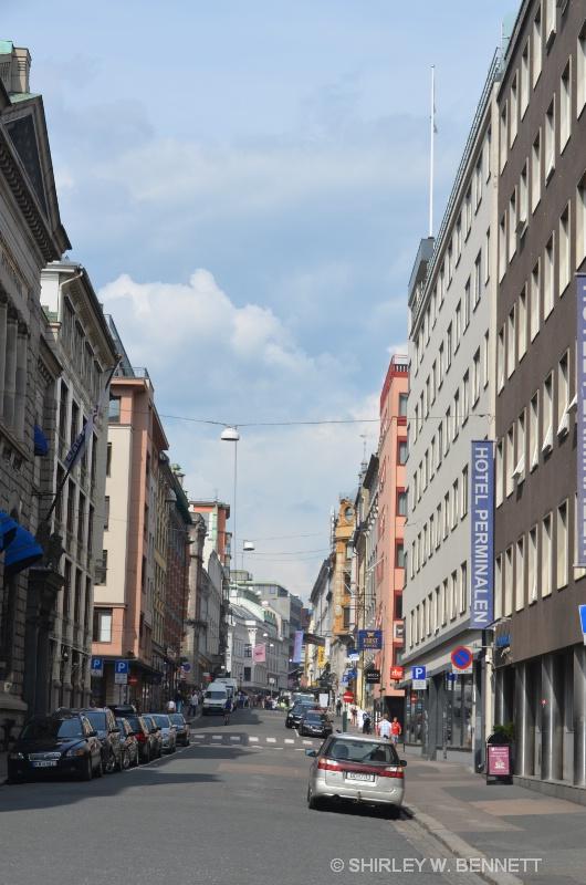 A STREET SCENE IN ALESUND