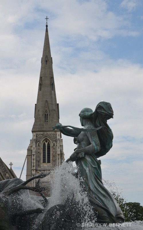 GEFION FOUNTAIN AND ST. ALBANS' STEEPLE