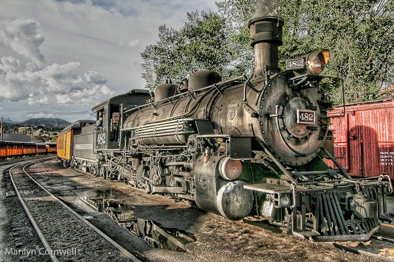 Silverton Durango in the Station Yard
