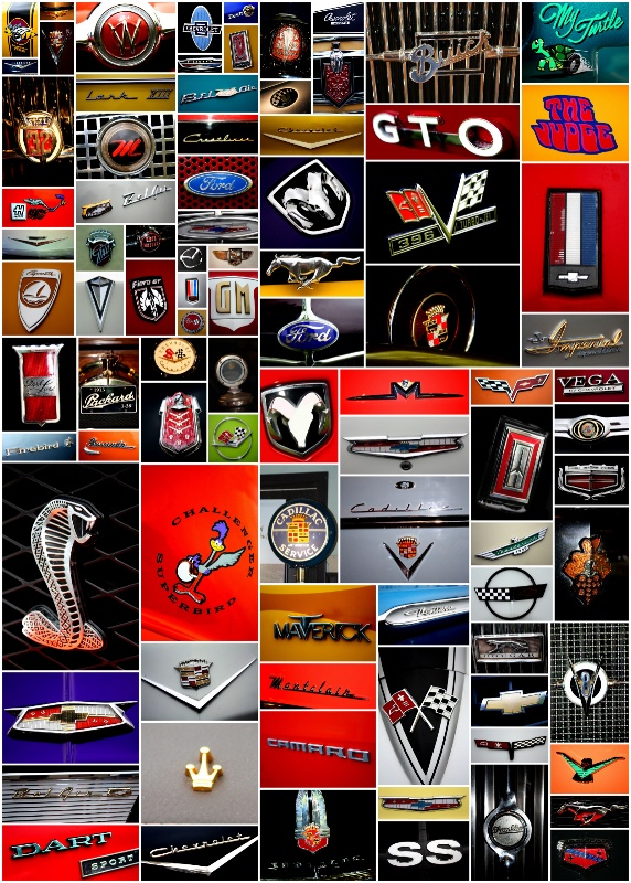 Car Emblem Poster 21x30 $85.00