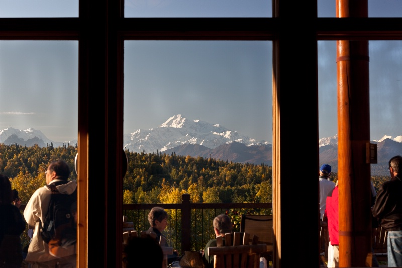 Denali (Mt. McKinley) from inside Mt. McKinley Lod