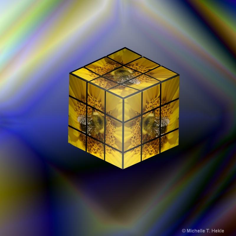 @Bee on cube - orig
