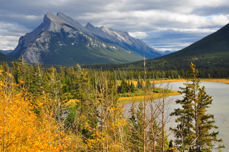 Mt Rundle in Banff National Park, Alberta, Canada