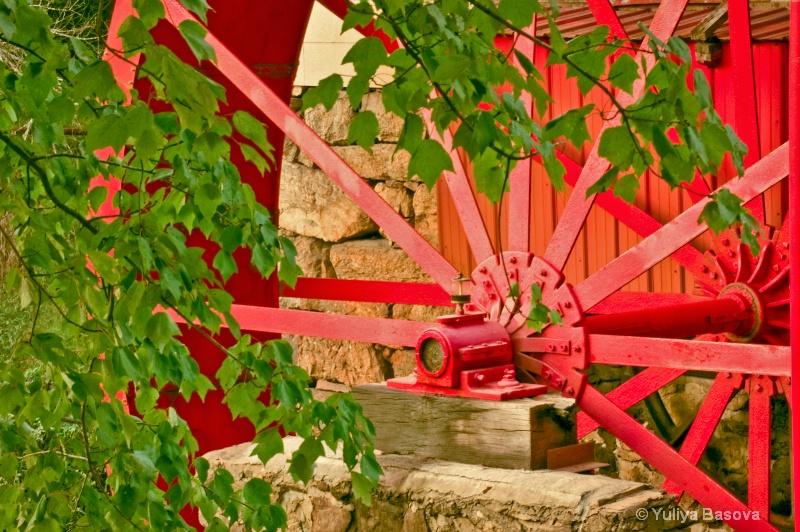 Spring Time. Water Wheel