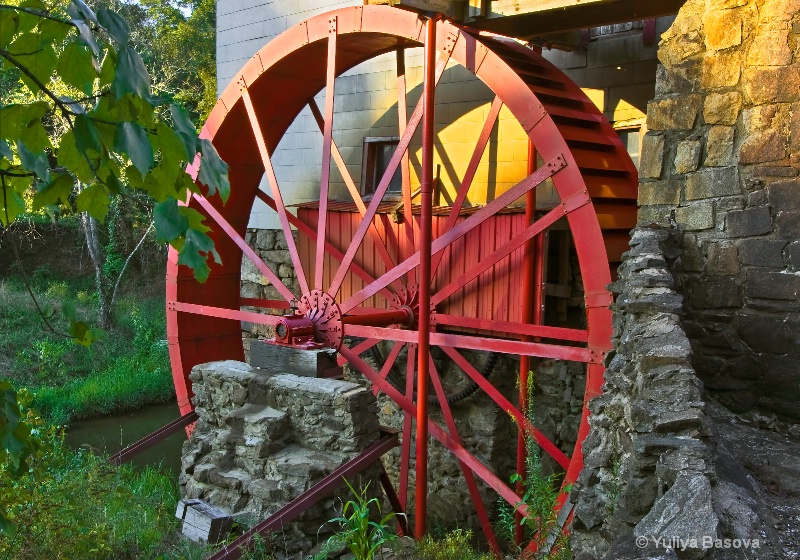 The Water Wheel at Sunset