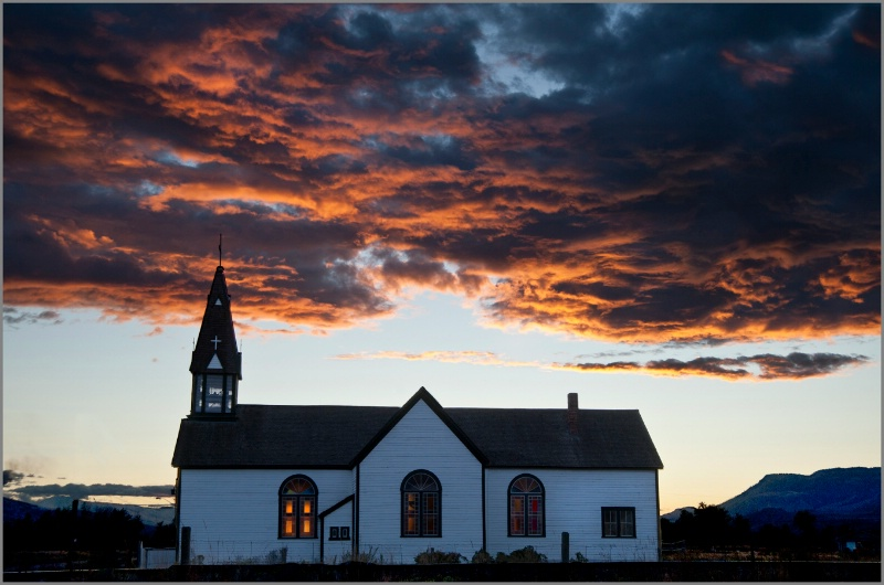 St Joseph's Church at Sunset