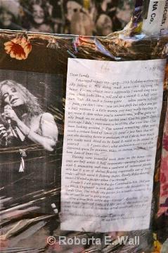 Janis Joplin letter to family