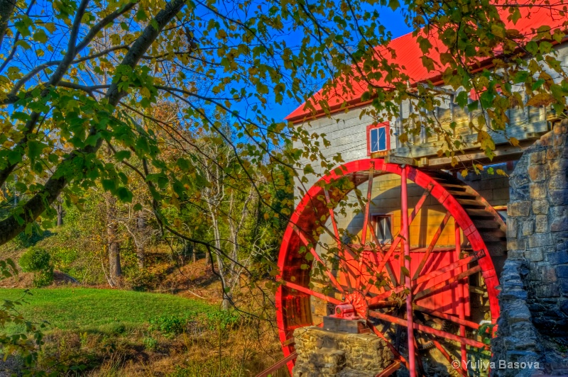 Autumn Time at the Old Mill of Guilford