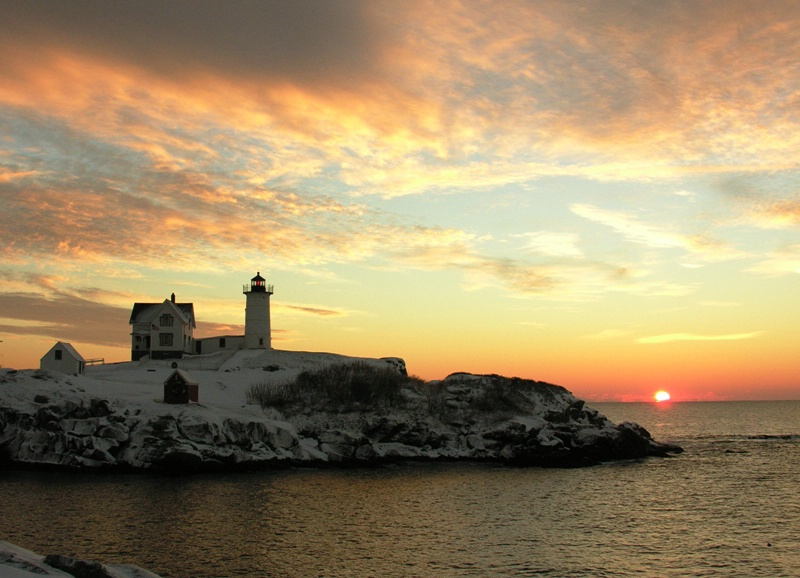 Nubble Winter Sunrise