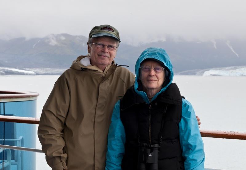 Aboard Island Princess at Hubbard Glacier