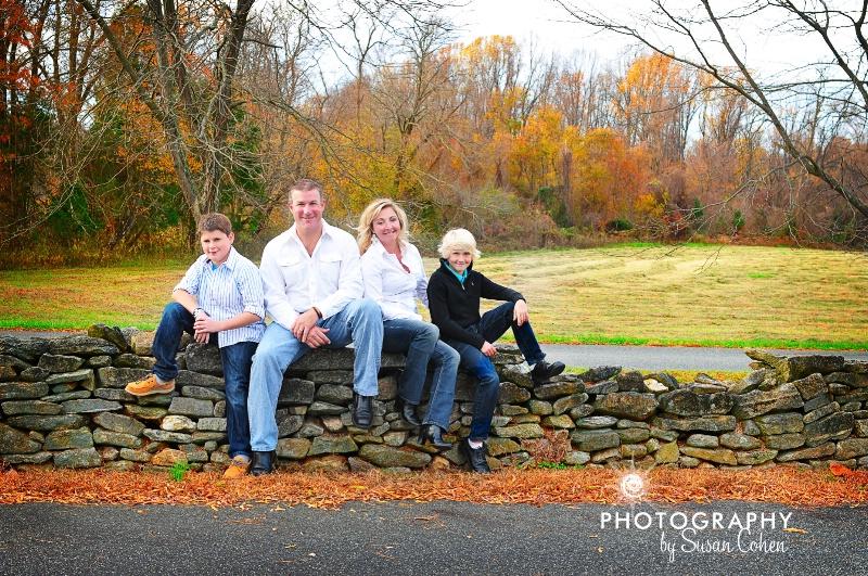 festive fall family