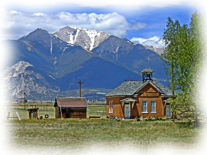 schoolhouse below mt princeton