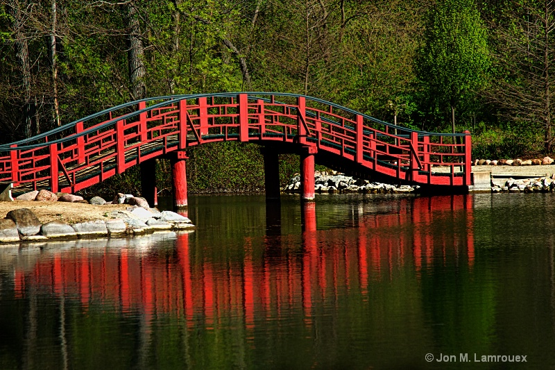 Japanese Gardens Bridge - Topaz HDR