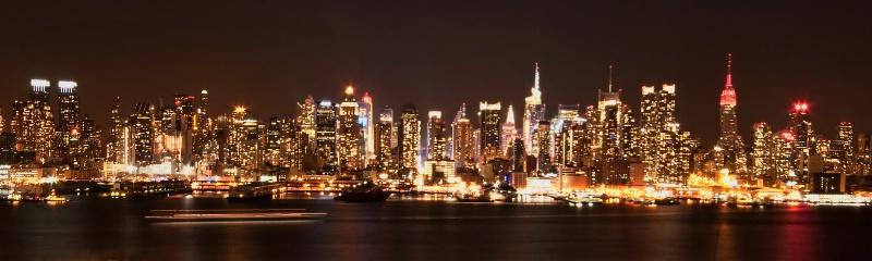 Manhattan Night Panarama