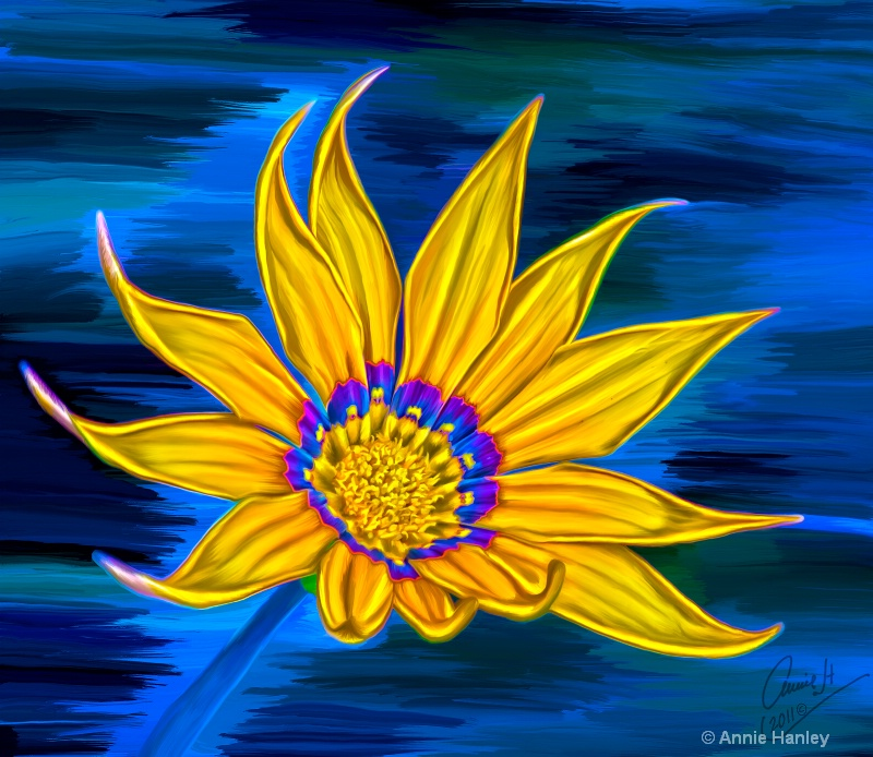 bp 1049 blue yellow daisy