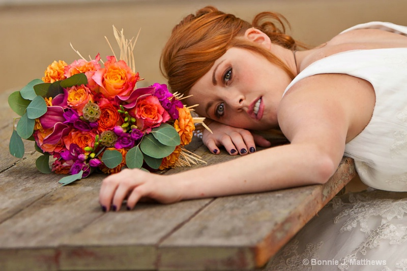 Amarican Bride Sara Thinking