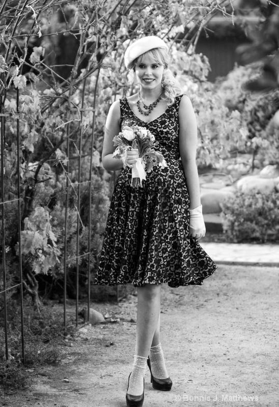Paris Bride Jordan With Bouquet