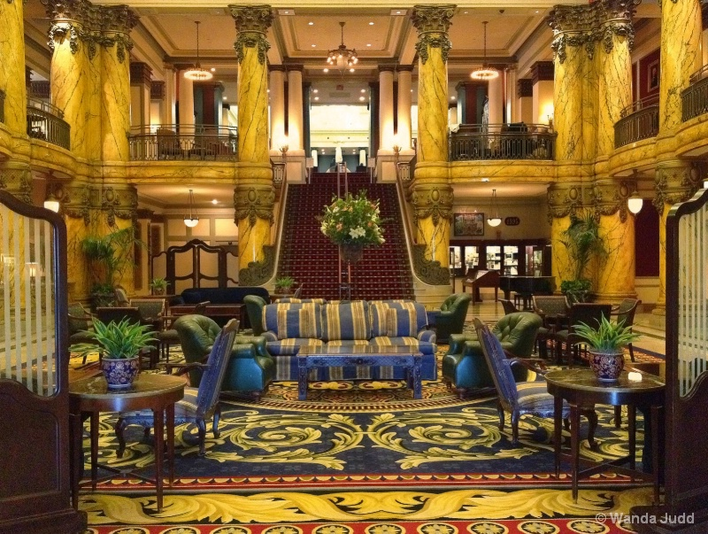 Lobby of The Jefferson Hotel... Richmond VA