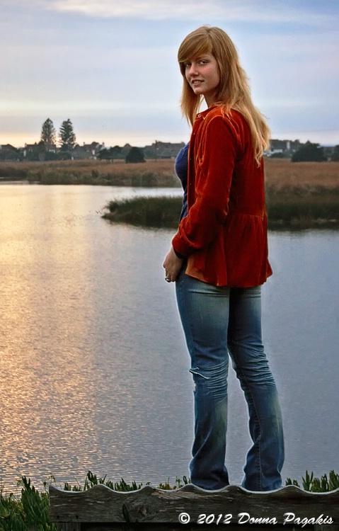 Lady at the Lagoon