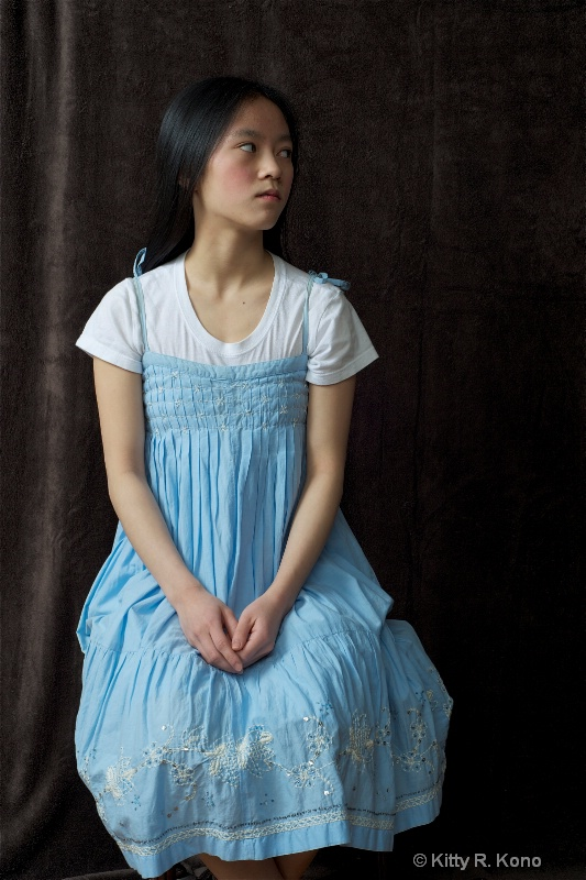 Yumiko in Blue