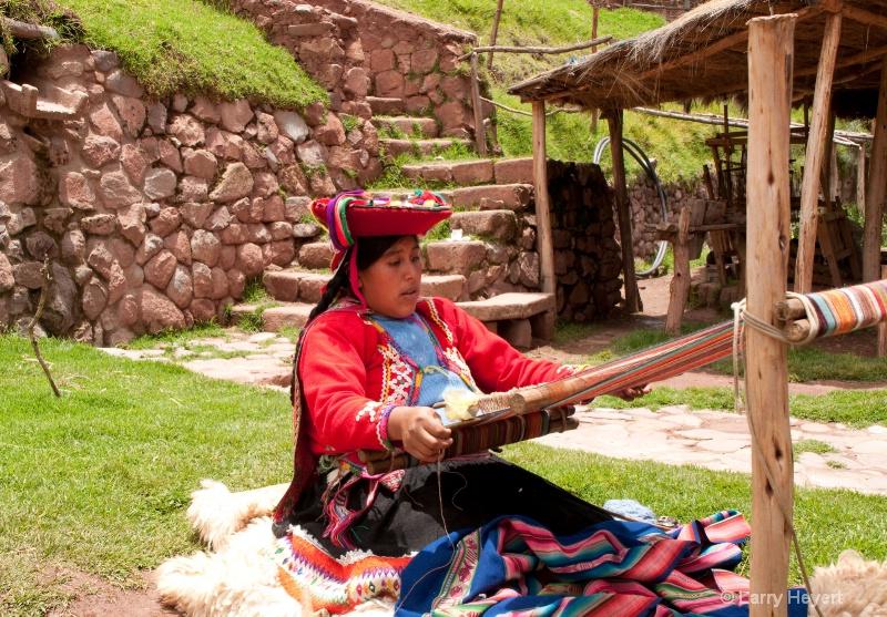 Weaver in Peru