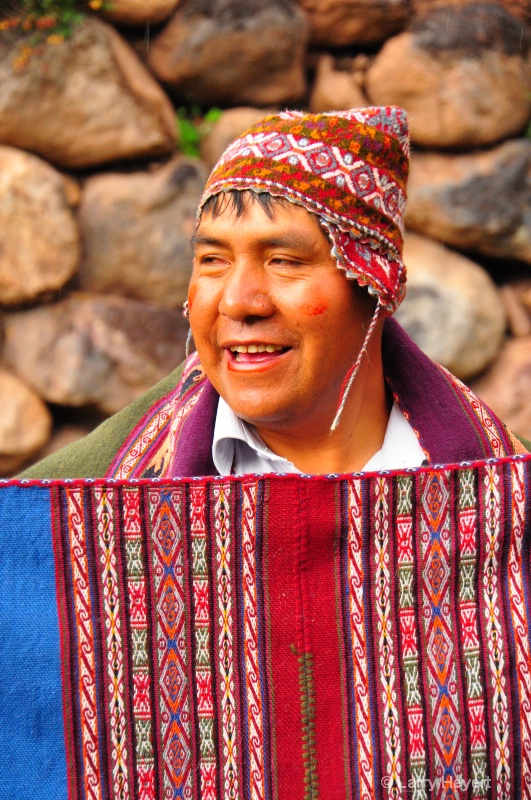 Local Peruvian weaver in Urubamba Valley
