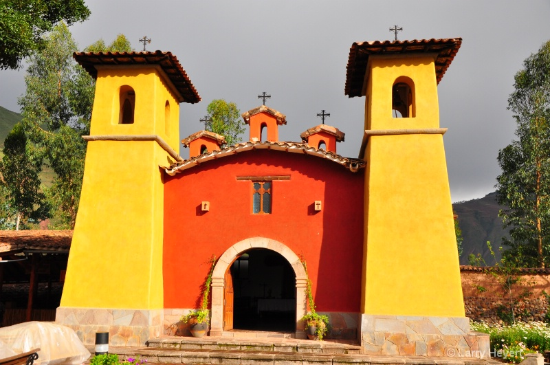 Peru- church in Urubamba Valley