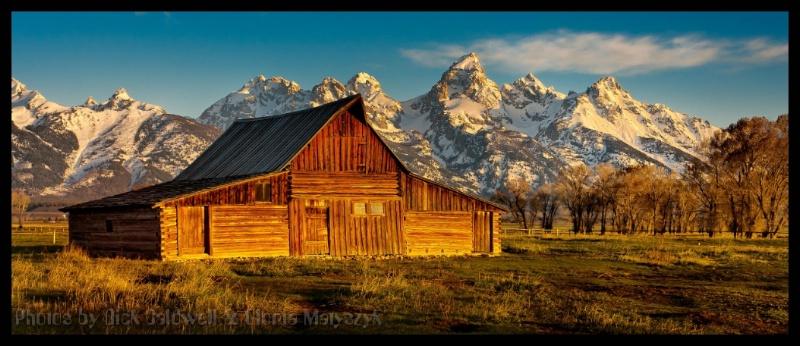 Mormon barn in Grand Teton National Park, Montana