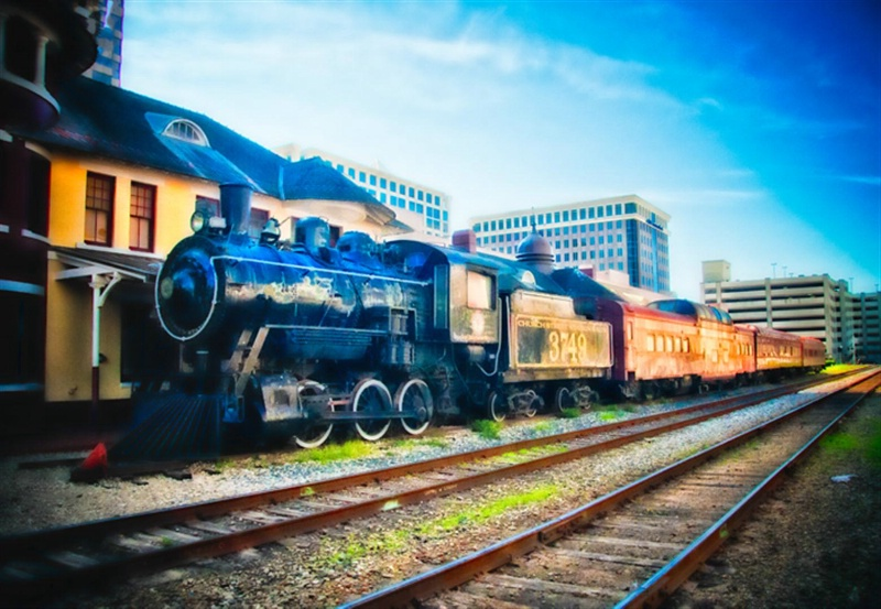Steam train, Orlando, Florida