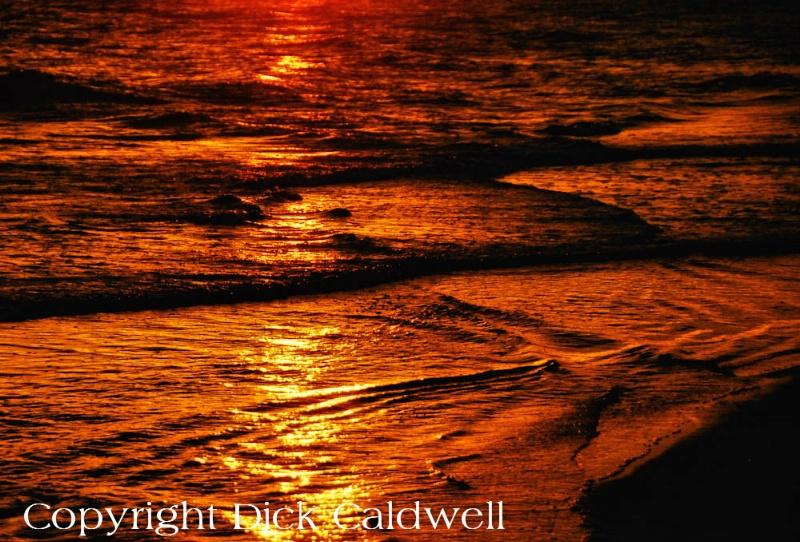 Sunset waves, Amelia Island, Florida